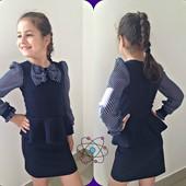 Красивое школьное платье серое, синее, черное