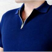 Поло свитер River Island 52-54 (XL/ eur5)  плотное качество синий