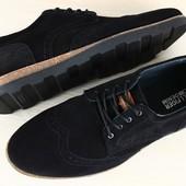 Туфли - комфорт ,мужские замшевые
