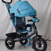 Велосипед детский трехколесный azimut crosser one t1 фара (надувные колёса) 8 цветов