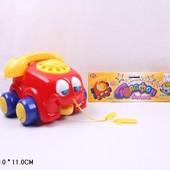 Детская каталка на веревке, телефончик Play smart 0305