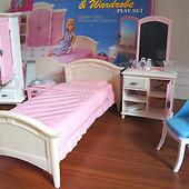 Мебель для кукол Gloria спальня с гардеробом 24014