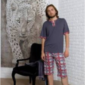 Мужской домашний комплект пижама р.С