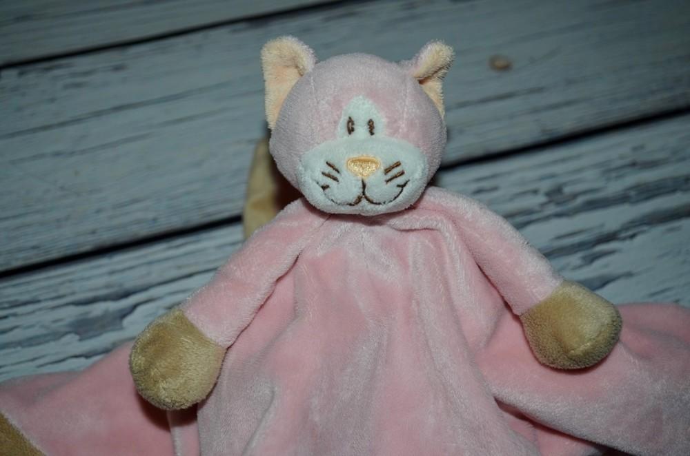 Фирменный комфортер полотенечко салфетка игрушка кот кошка слюновпитывающее мягкое погремушка фото №1