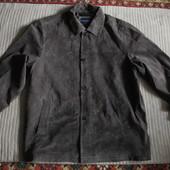 Прямая замшевая коричневая куртка  в рубашечном стиле Hathavay.США.xxl