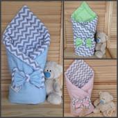 Конверт для новорожденных демисезон на выписку для выписки одеяло детское плед