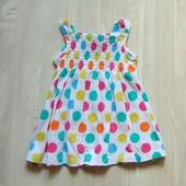 Яркое стильное платьице для девочки. George. Размер 12-18 месяцев. Состояние: идеальное