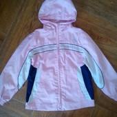 Ветровка, спортивная кофта, демисезонная куртка нежнорозового цвета