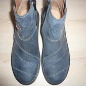 Деми ботинки кожа на резинке на молнии 36-37 р 23, 5 см Moshulu Англия