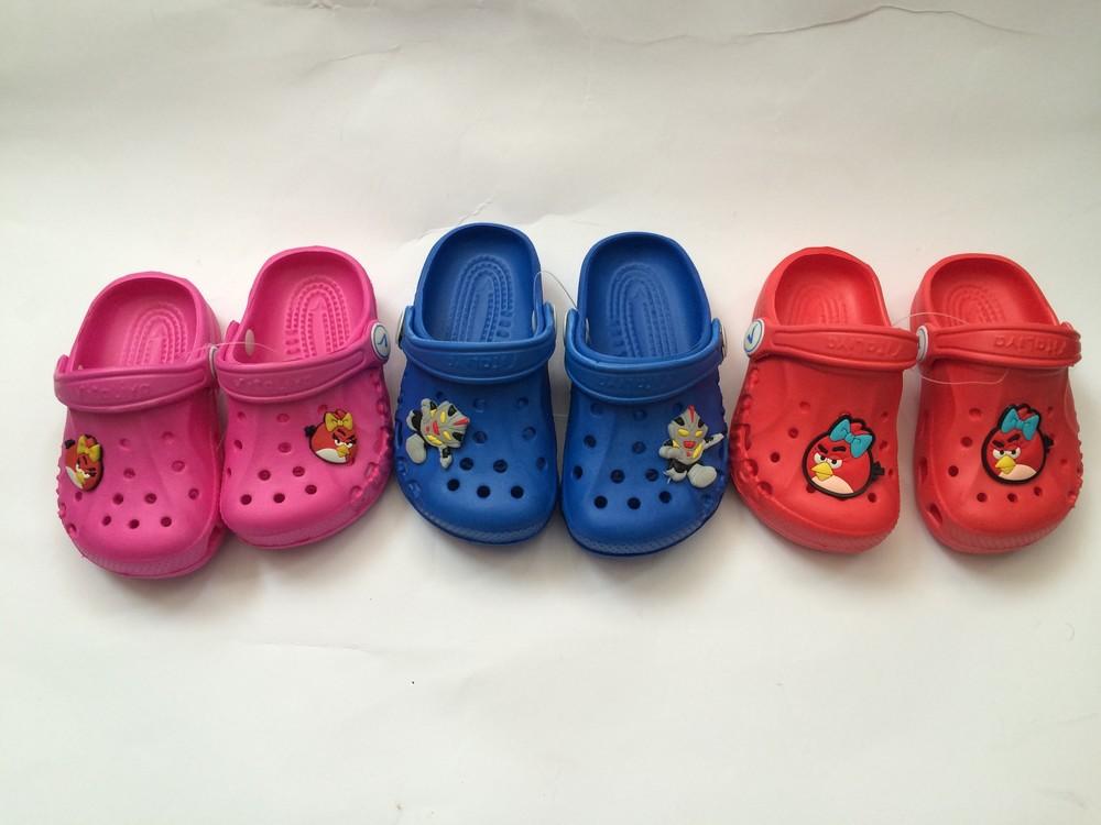 Кроксы синие красные розовые для девочки и мальчика фото №1