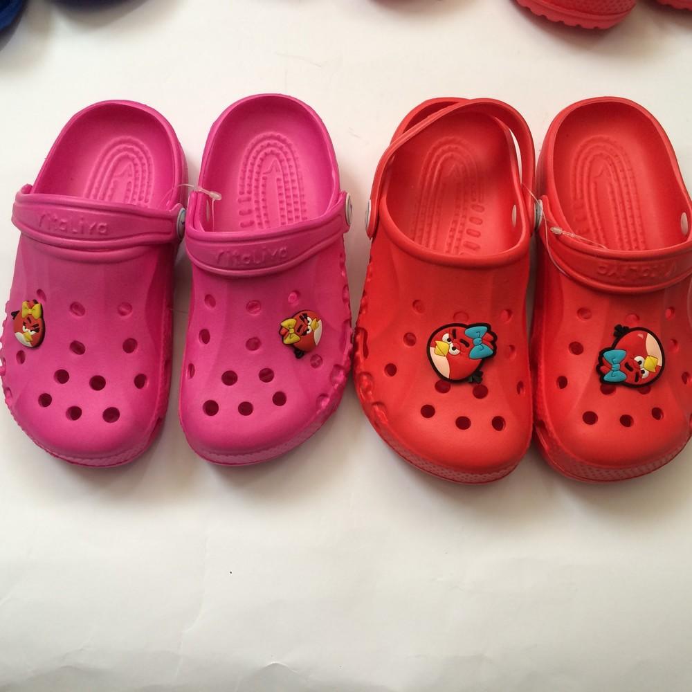 Кроксы синие красные розовые для девочки и мальчика фото №3