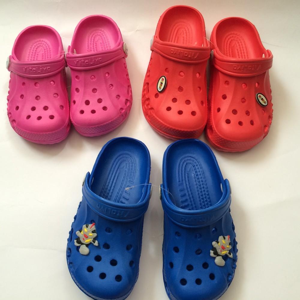 Кроксы синие красные розовые для девочки и мальчика фото №4
