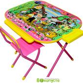 Детский складной набор мебели Дэми Дошкольник Чиполино, розовый (Д-20031209)