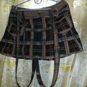 классная модная юбка с подтяжками микровельвет