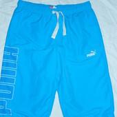 Puma р-р M, классные мужские шорты,цвет яркий(бирюза)
