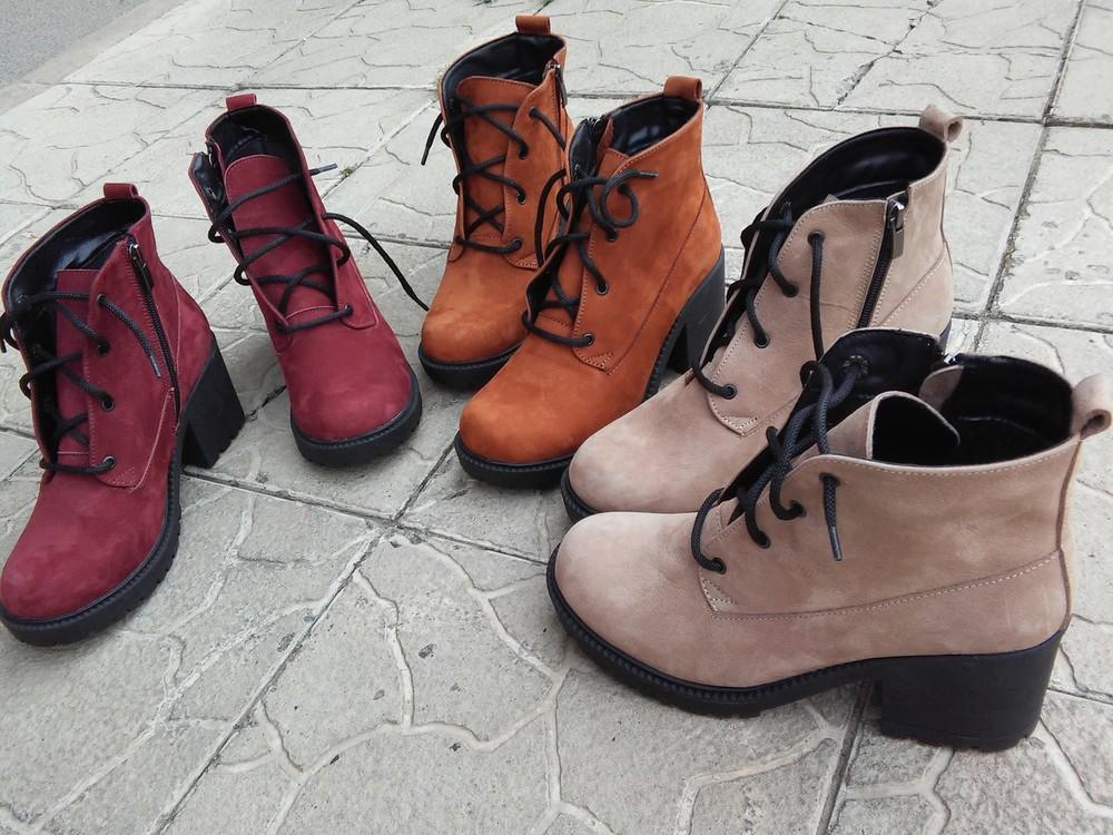 Ботинки кожа замша возможны разные цвета . байка или мех фото №1