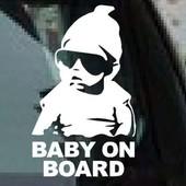 Наклейка - предупреждение на авто