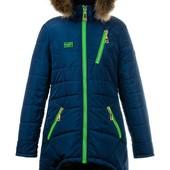 Зимняя теплая удлиненная куртка,мех-енот для девочек-подростков,размеры 40-46