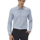 голубая мужская рубашка LC Waikiki в светлую полоску