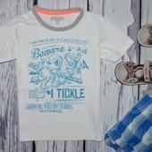 Фирменная футболка стильному мальчику 3 - 4 года 104 см