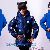 Двухсторонняя куртка для девочки 2 цвета(евро зима-тёплая зима)