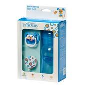 Подарочный набор Dr. Brown's™ Natural Flow® (бутылочка, пустышка, карабин) голубой (Wb914)