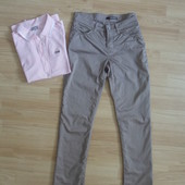 тонкие штаны с отблеском на лето 28-29 размер Cambio М-ка