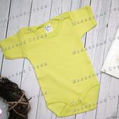 Бодик, короткий рукав, 62 68 74 размер, 3 6 9 месяцев, салатовый зеленый боди, Турция хлопок
