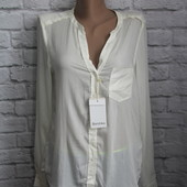 Белая блузка Bershka р.М
