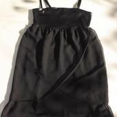 ONLY. Коктейльное шифоновое платье на бретельках с имитацией кожи.