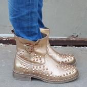 Стильные кожаные ботинки полуботинки сапоги Bronx 37 р.