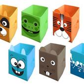 Ящик- корзина для хранения игрушек с крышкой (35*35*55)