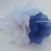 Шифоновые цветы на повязке
