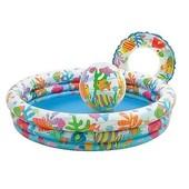 Бассейн надувной Intex 59469 набор с мячом и кругом