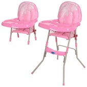 Детский стульчик для кормления GL 217-8 розовый