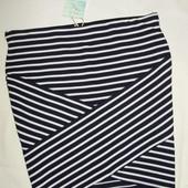 Новая полосатая юбка Сolins с ассиметричным низом ( М-L )