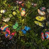 Бабочки декоративные на палочке для сада, украшения.