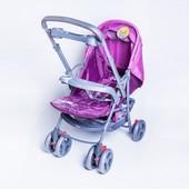 Детская прогулочная коляска с перекидной ручкой Baby Tilly Elephant bt-ws-0001 purple