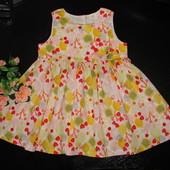 легенькое платье H&M 9-12 мес (можно до 1.5 лет) как новое