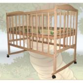 Детская кроватка Sofia Eco S-1(120*60, 3 ур-ня, без колес, без лака)