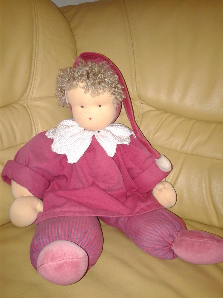 Кукла большой клоун 60 см винтажный гдр редкий коллекционный фото №1