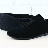 Туфли натуральная кожа замша В1904