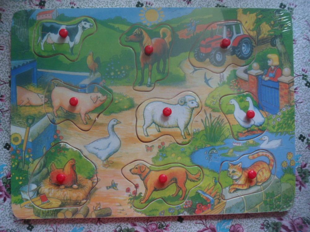 Деревянные рамки-вкладыши животные.гардероб.часы фото №1