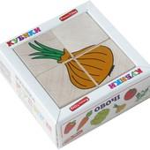 Кубики «Сложи рисунок: Овощи», Komarovtoys Артикул: Т 607