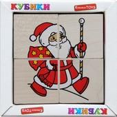 Кубики «Сложи рисунок: Новый год», Komarovtoys Артикул: Т 612