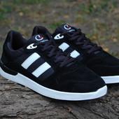 Мужские замшевые кроссовки Classica черные