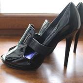 Лаковые летние туфли Faith 39 р. 25 см стелька