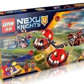 конструктор lepin nexu knights 14004 безумная колесница укротителя (аналог lego nexo knights 70314)