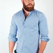 Рубашка клетчатая с длинным рукавом №36F014 5 цветов