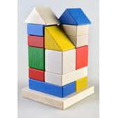 Деревянная пирамидка конструктор Башня. В наличии.